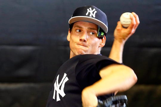 a2273e15e9b Danny Farquhar at NY Yankees spring training after brain hemorrhage