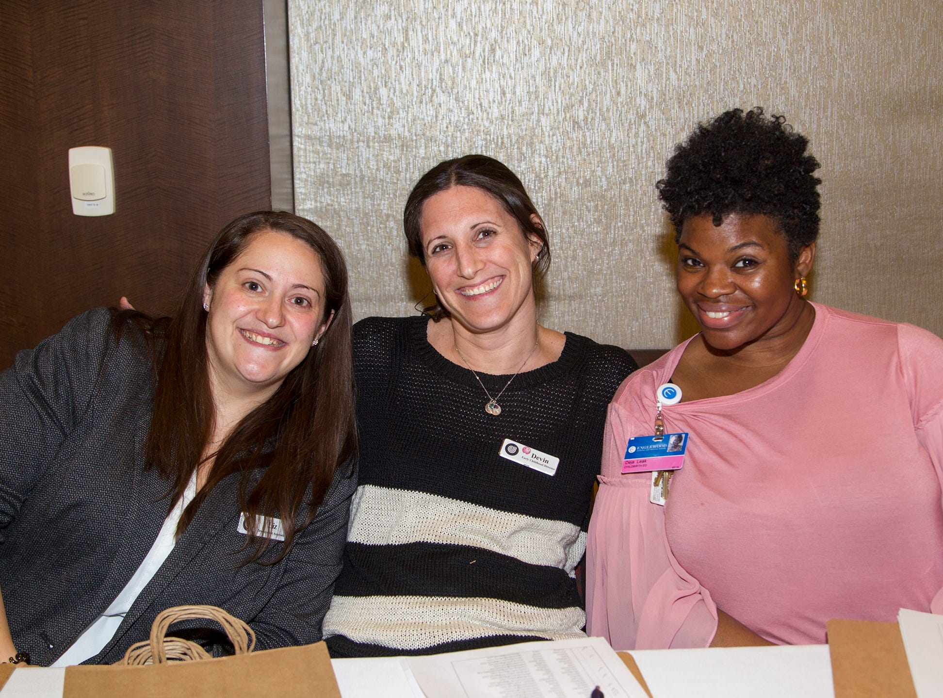 Liz Iannaconi, Devin Zukofoloy,  Deja Leak. Englewood Health and Kaplen JCC on the Palisades sponsored a Mind, Body, & Sole - a women's health & fitness social night at Kaplen JCC on the Palisades in Tenafly.02/13/2019