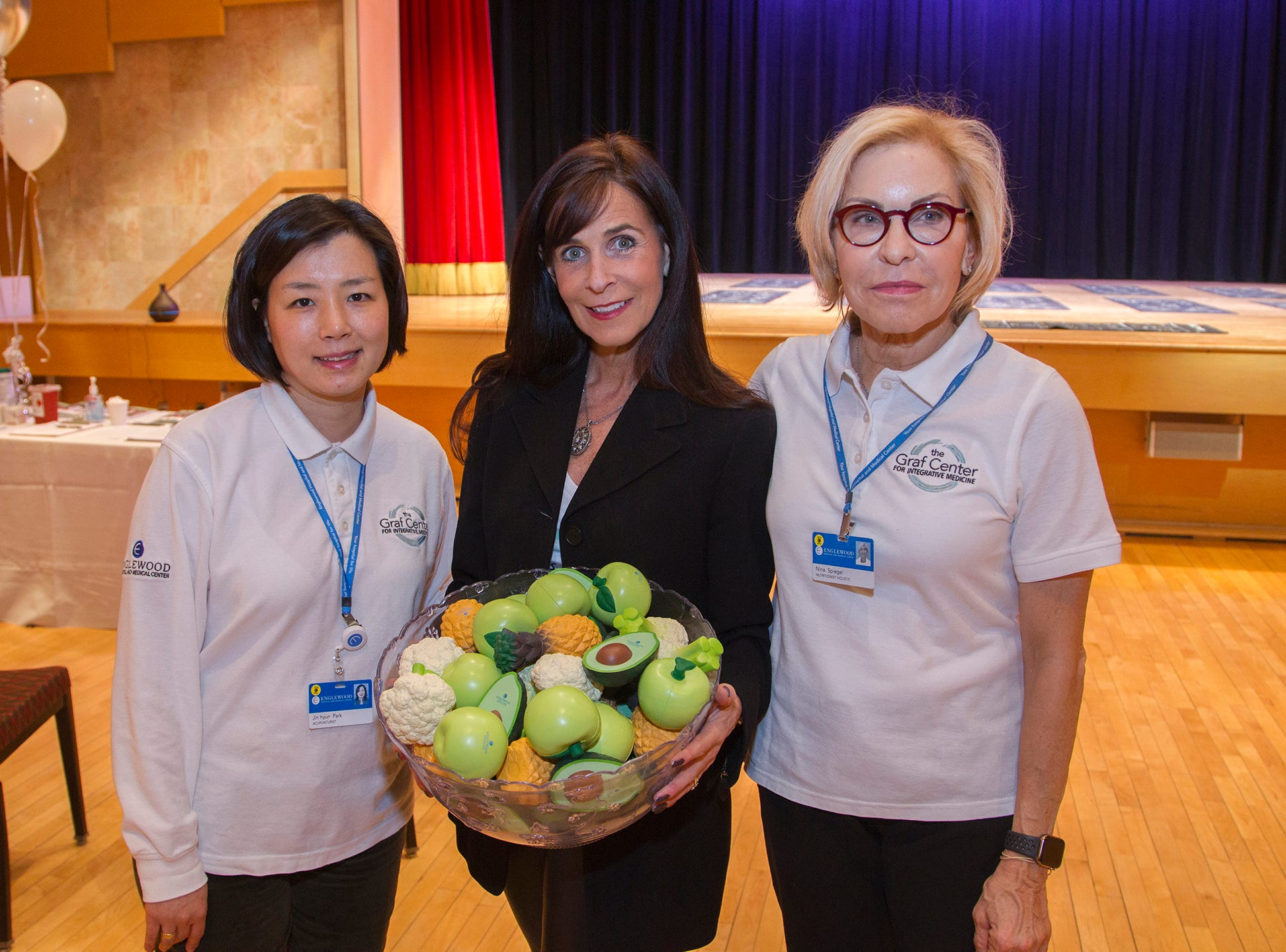 Jin Hyun Park, Cynthia Lewis, Nina Spiegel. Englewood Health and Kaplen JCC on the Palisades sponsored a Mind, Body, & Sole - a women's health & fitness social night at Kaplen JCC on the Palisades in Tenafly.02/13/2019