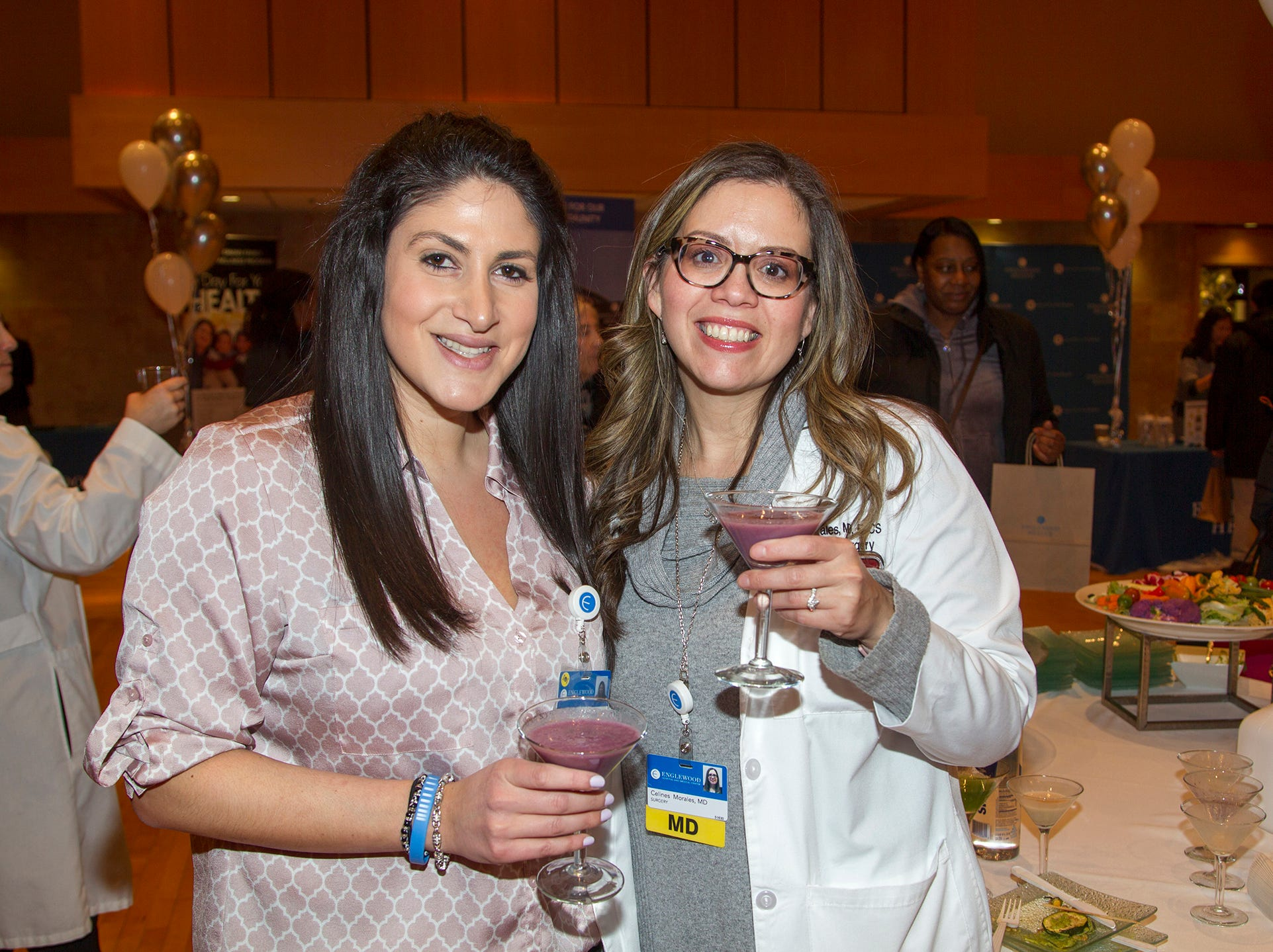 Maria Paschalidis MD, Celines Morales MD. Englewood Health and Kaplen JCC on the Palisades sponsored a Mind, Body, & Sole - a women's health & fitness social night at Kaplen JCC on the Palisades in Tenafly.02/13/2019