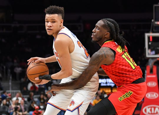 New York Knicks forward Kevin Knox might have to adjust to coming off the bench this season.