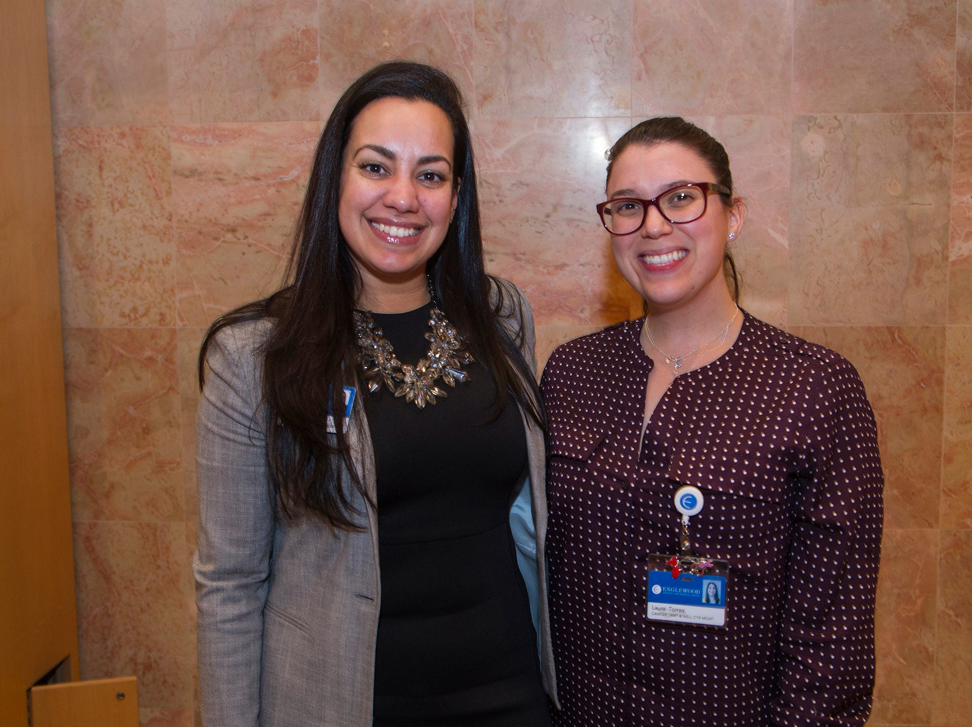 Laura Torres, Christina Laird. Englewood Health and Kaplen JCC on the Palisades sponsored a Mind, Body, & Sole - a women's health & fitness social night at Kaplen JCC on the Palisades in Tenafly.02/13/2019