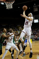 Trevelin Queen has emerged as yet another contributor for the New Mexico State men's basketball team since becoming eligible in December.