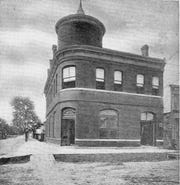 St. Landry State Bank Building, constructed in 1888, as it appeared on King;s Corner during the early 1900s.