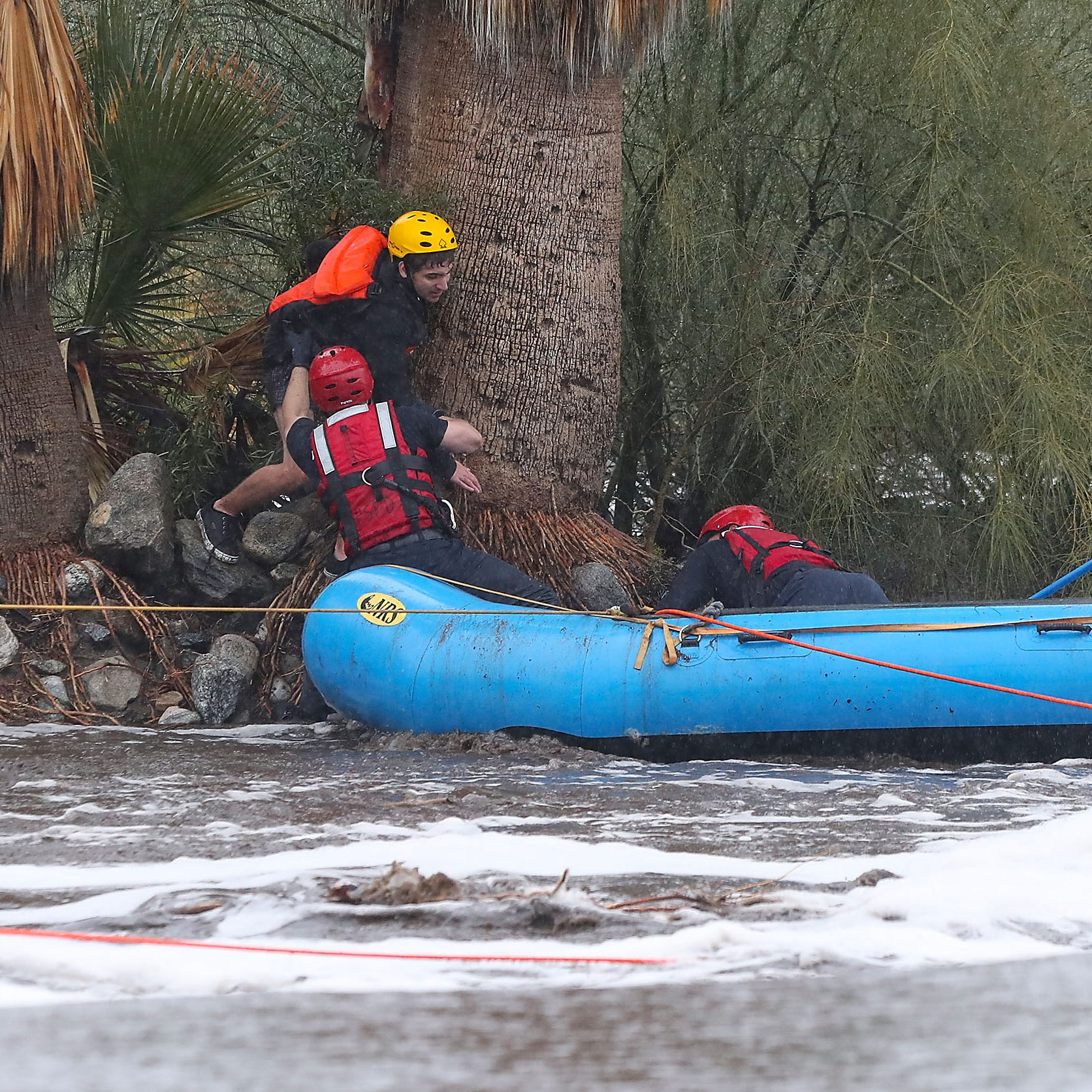 5 people rescued from floodwaters in Palm Springs, Desert Hot Springs after heavy rainfall