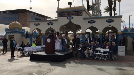 The Riverside County Fair and National Date Festival opened on Friday with introductory remarks from local politicians.