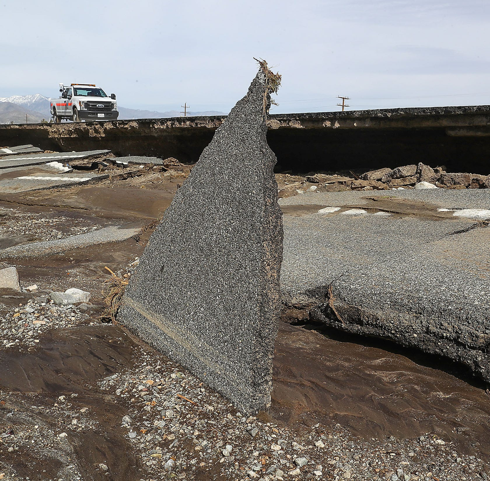 Highway 111 will partially reopen next week after historic storm; Gene Autry Trail reopened