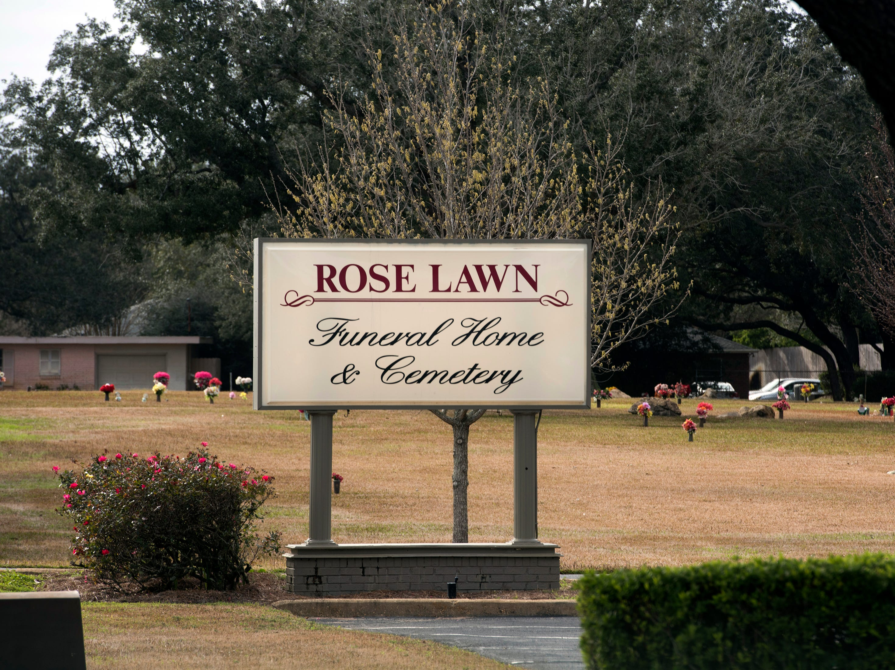 The Rose Lawn cemetery as it looks on Friday, Feb. 15, 2019. A portion of the cemetery is being sought after by Santa Rosa County to complete a stormwater project to help the residents in the Whisper Bay and the Ranchettes neighbors off Hwy 98.