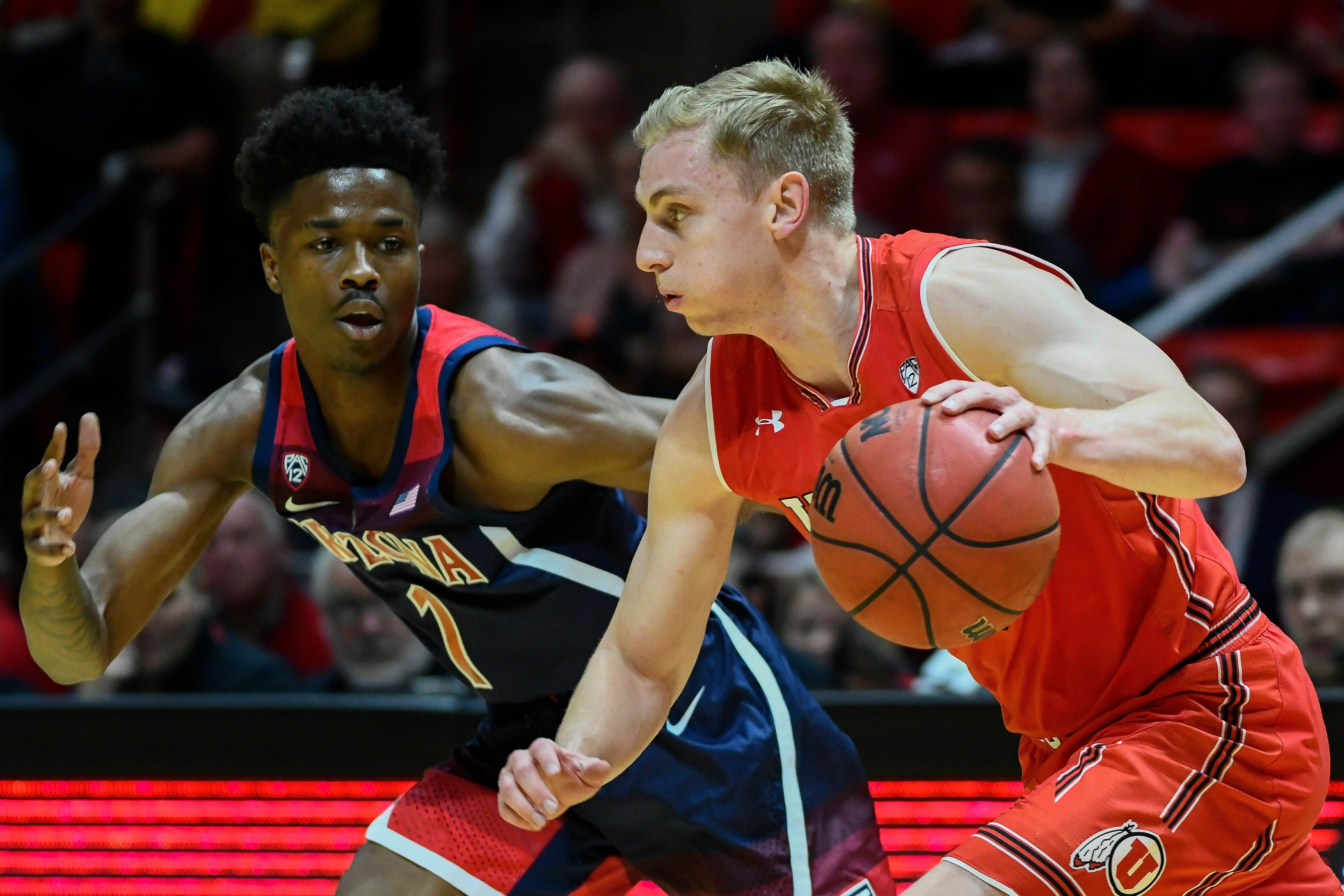 Alex Barcello Arizona Wildcats Basketball Jersey-Red