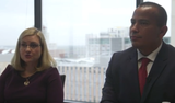 Phoenix mayoral candidates Kate Gallego and Daniel Valenzuela answer questions on public safety on Feb. in the azcentral editorial boardroom.