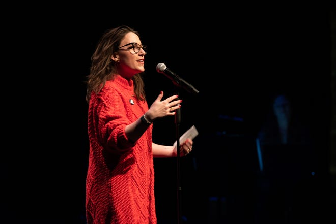 Storytellers Project founder and director Megan Finnerty will be the emcee of Storytellers Project Live on April 2.