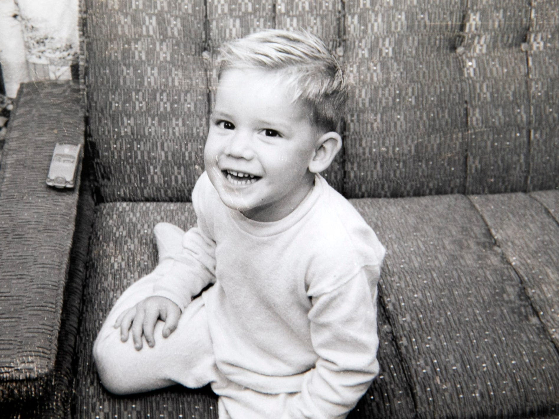 Three-year-old Michael Crow in Alameda, California, in 1959.
