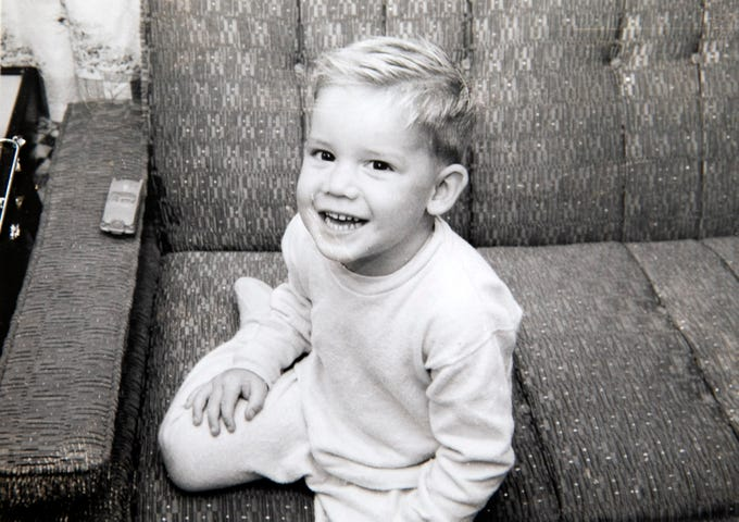 Three-year-old Michael Crow in Alameda, California, in 1959.