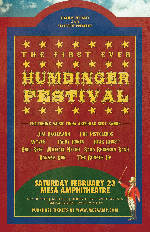 The Humdinger Festival's first concert poster.