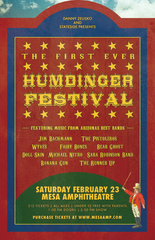 The Humdinger Festival's first concert poster.