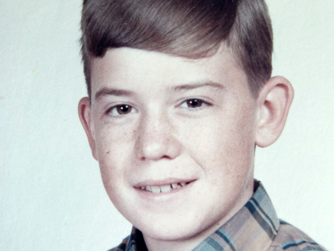 Michael Crow in fifth grade in Chicago.