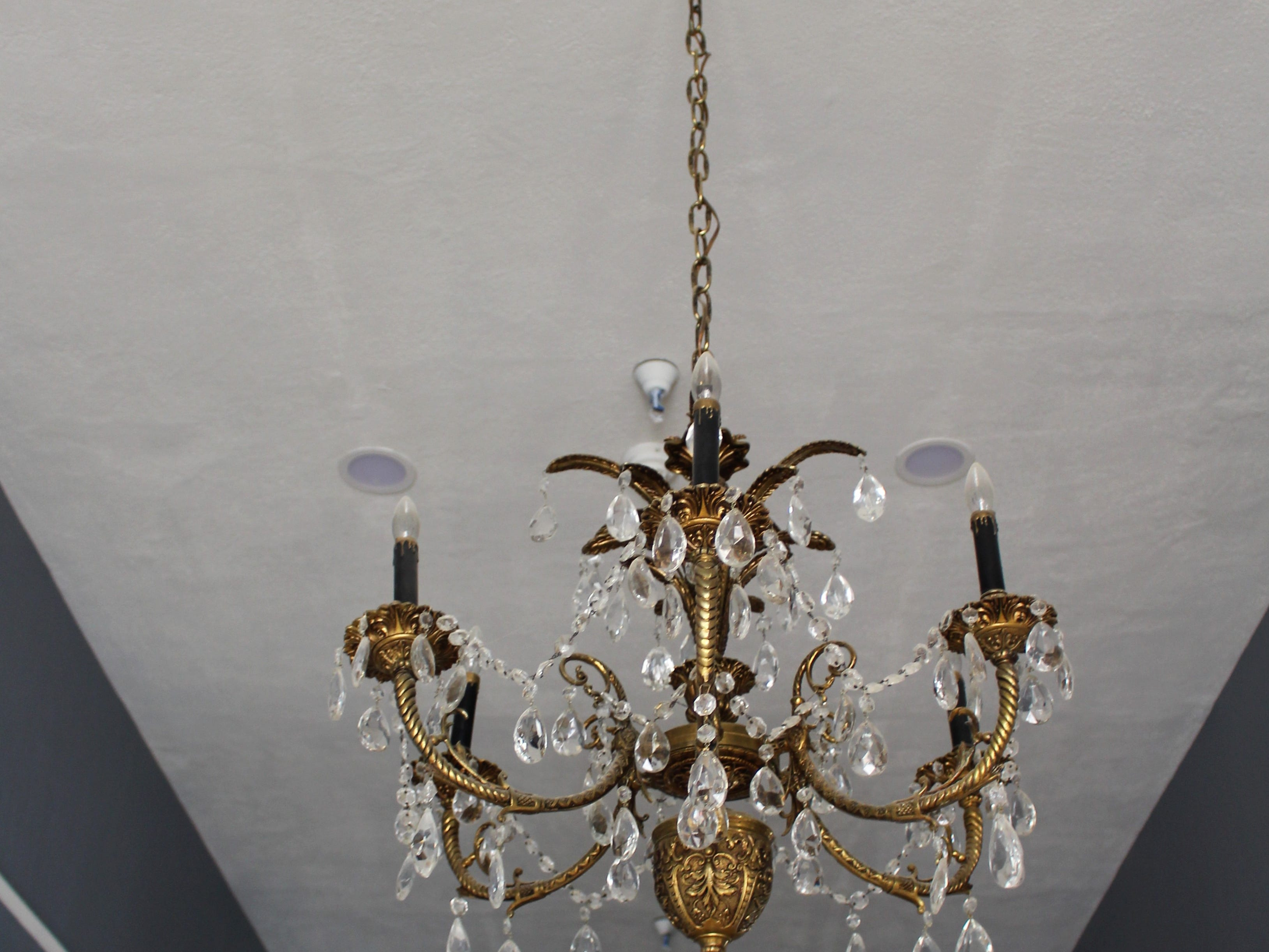 Hidden Kitchen chef and owner Ivan Jacobo picked out this chandelier for his first restaurant even before the lease for the building was signed.