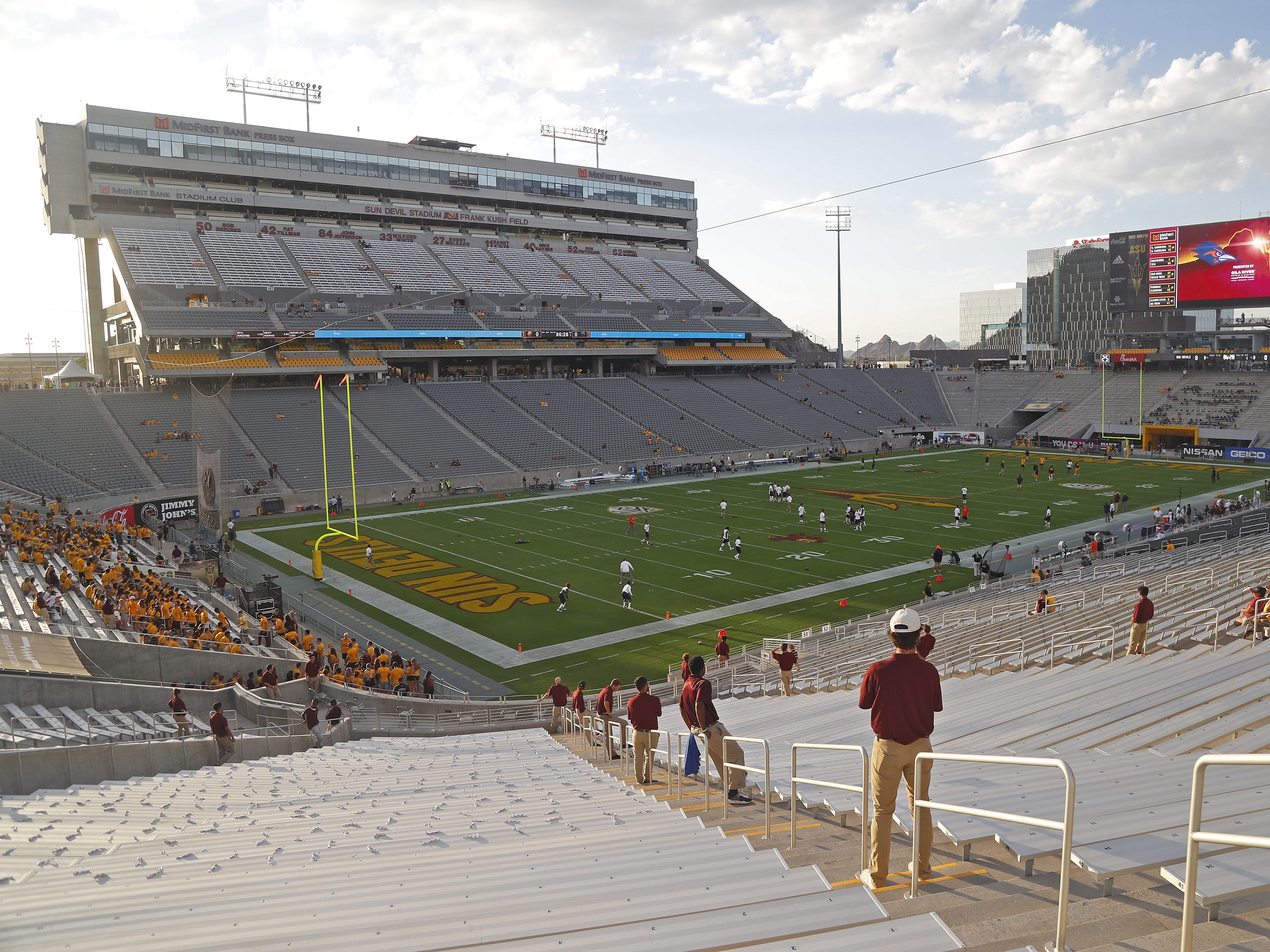 The newly renovated Sun Devil Stadium before a game against USTA in Tempe on Sept. 1, 2018.
