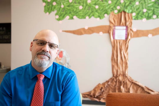 """I didn't get into education to make money. I got into education to help kids,"" says Edkey CEO Mark Plitzuweit, seen at the charter school chain's Children First Leadership Academy in Phoenix."