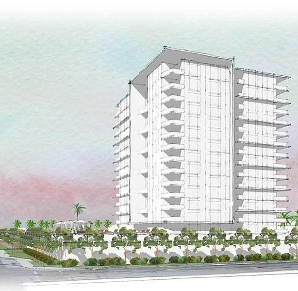 Rendering of a proposed high-rise that would be build on Phoenix Country Club property.