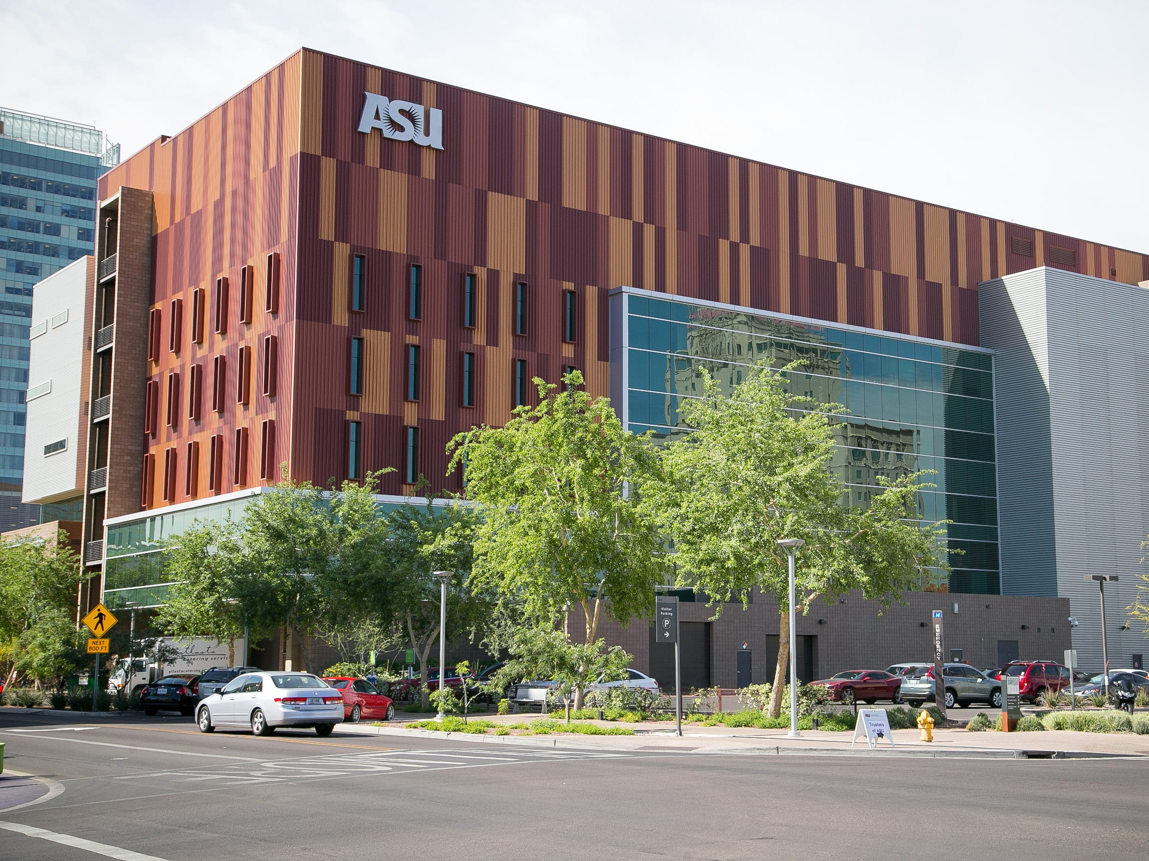 The Walter Cronkite School of Journalism and Mass Communication at the ASU Downtown Phoenix Campus on April 11, 2014. The building opened in 2008.