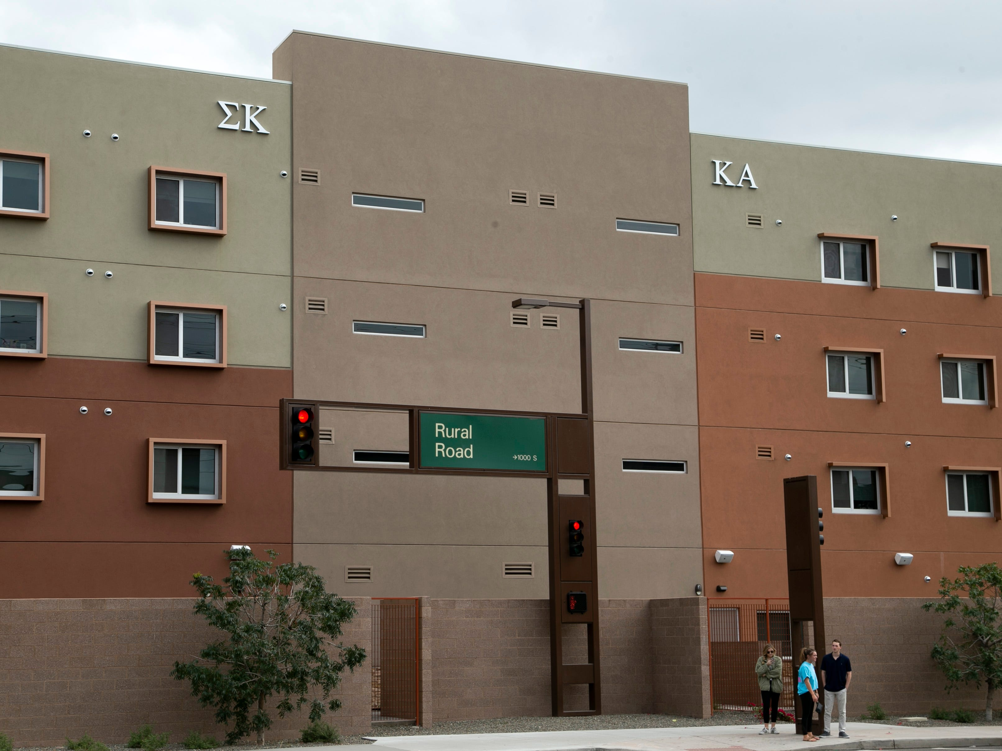 The Greek Leadership Village, provides townhouse-style housing for fraternity and sorority life on ASU's main campus in Tempe as seen on Feb. 15, 2019. It opened in 2018.