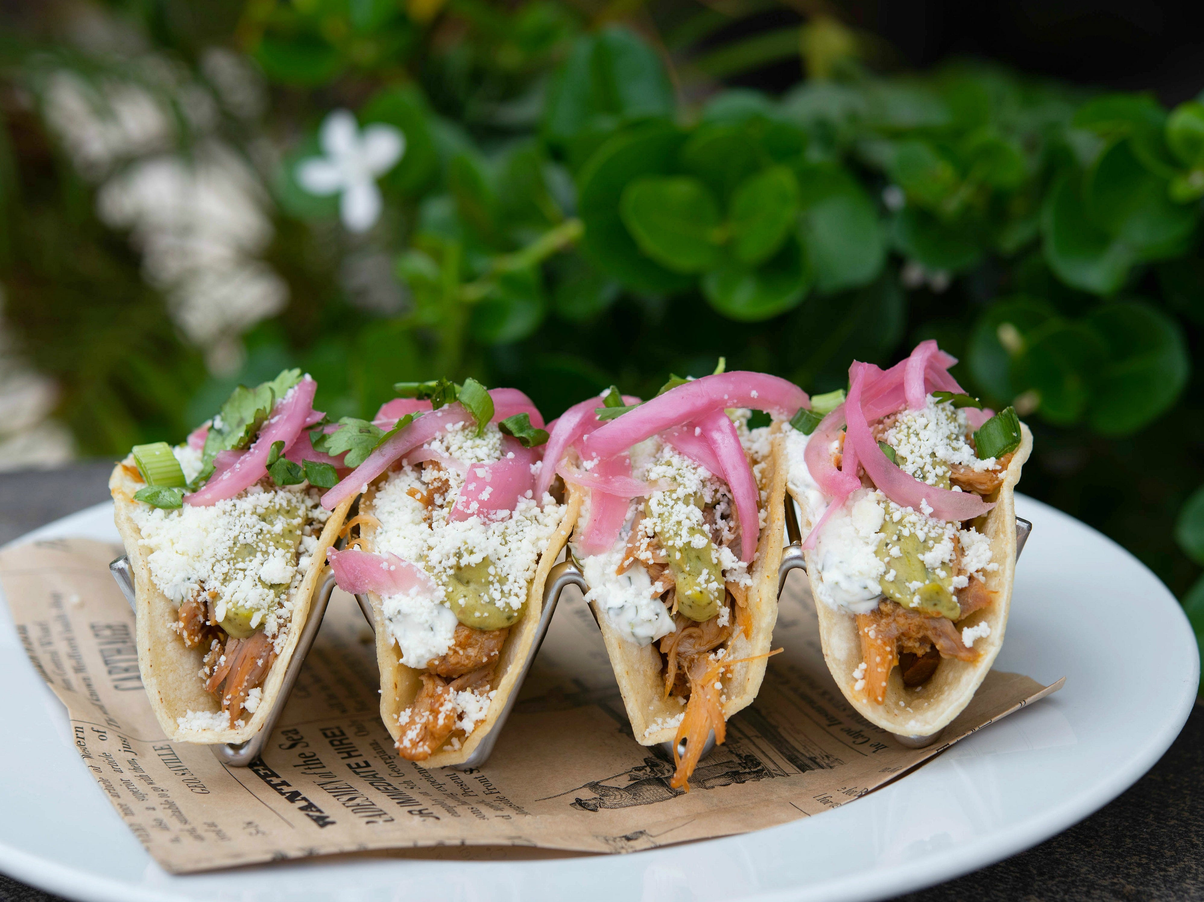 The happy hour tacos at Rico's American Grill at the Pointe Hilton Squaw Peak Resort.
