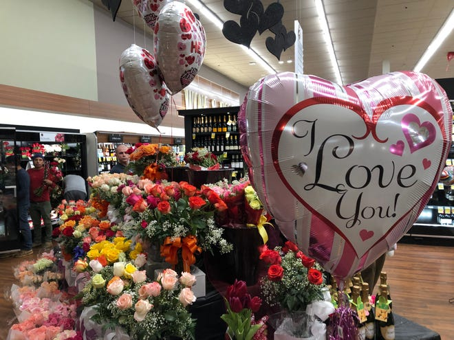 A florist said her Safeway would sell 800 dozen roses on Valentine's Day.