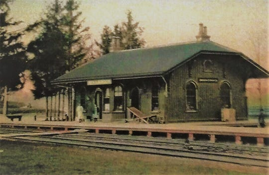 This vintage postcard depicts the Millbrook train station, built in 1867 for the Dutchess and Columbia Railroad. Its construction stimulated the creation of the village that exists today in the Town of Washington.
