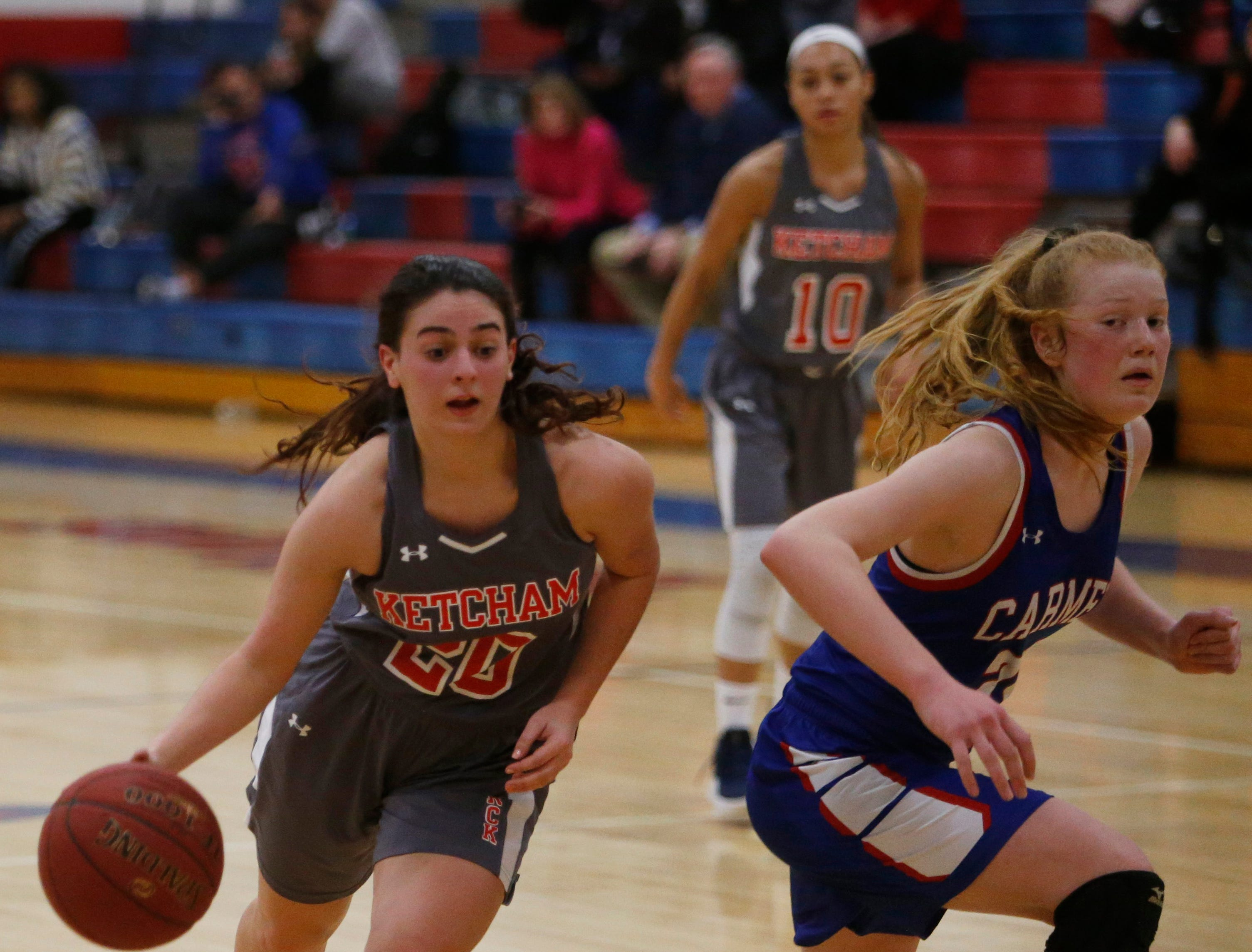 Action from Thursday's game between Roy C. Ketcham and Carmel on February 14, 2019.