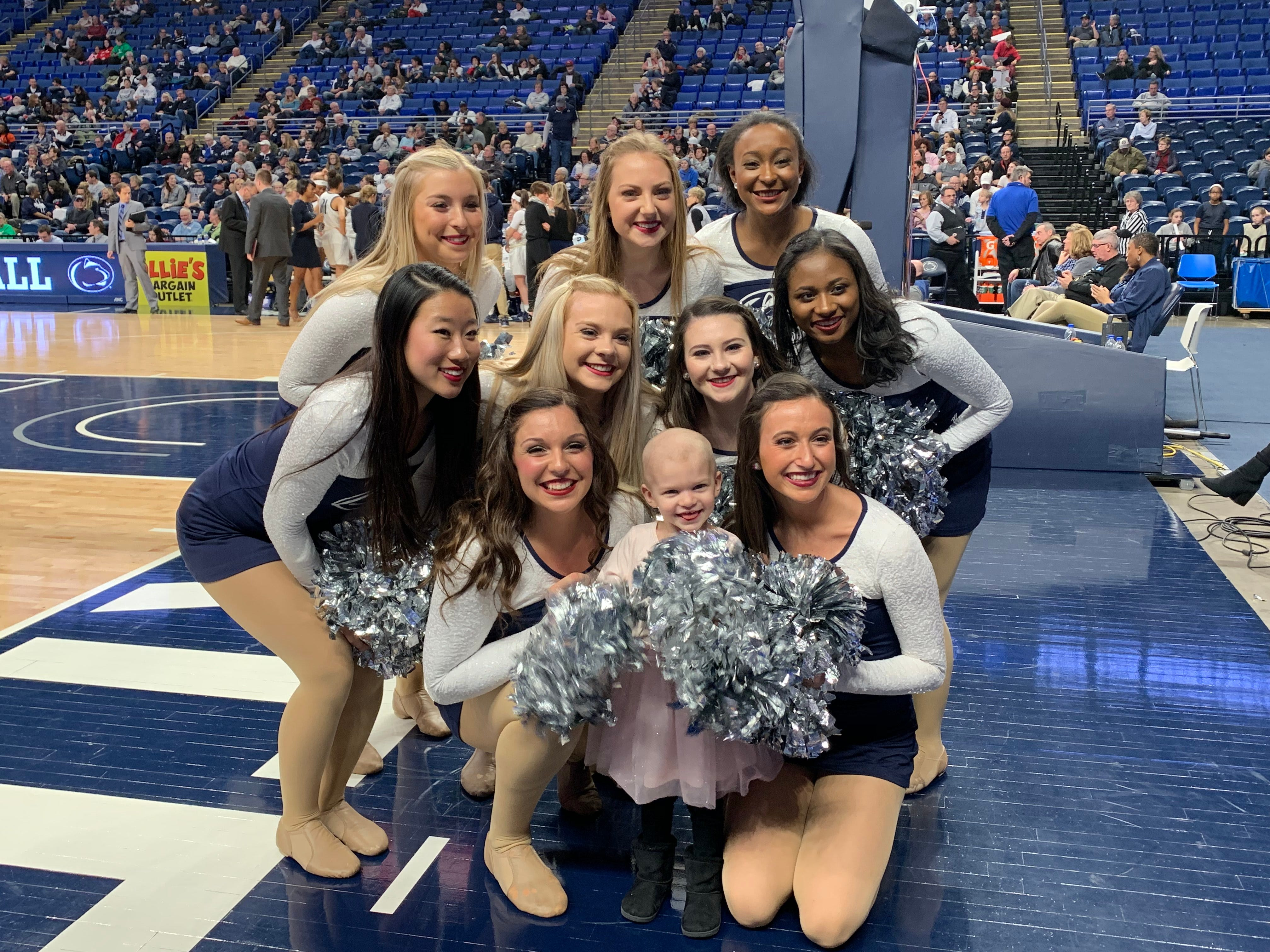 Shiloh Crimmel got to hang out with the Lionettes at a Women's Basketball game, January 12, 2019.