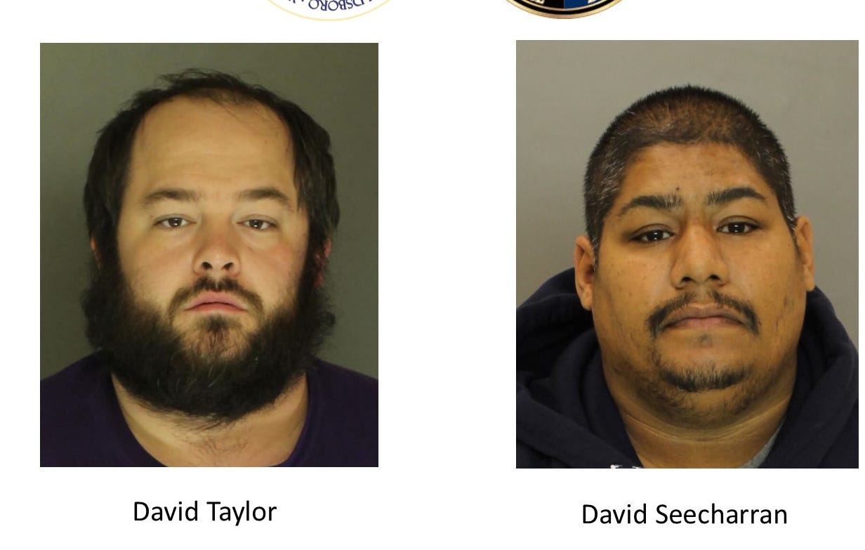 David Taylor (left) and David Seecharran are accused of providing heroin that caused two seemingly unrelated overdose deaths.