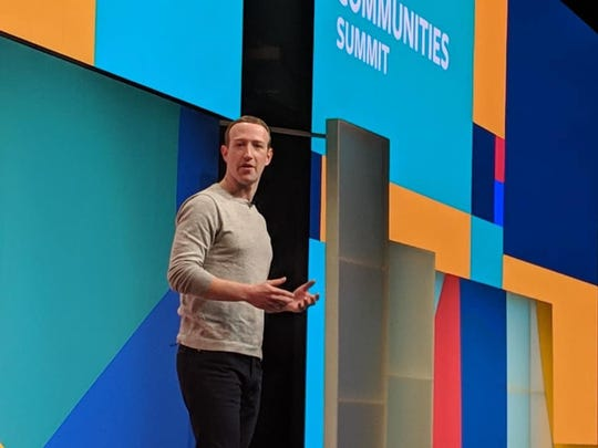 Mark Zuckerberg at the Facebook Communities summit.