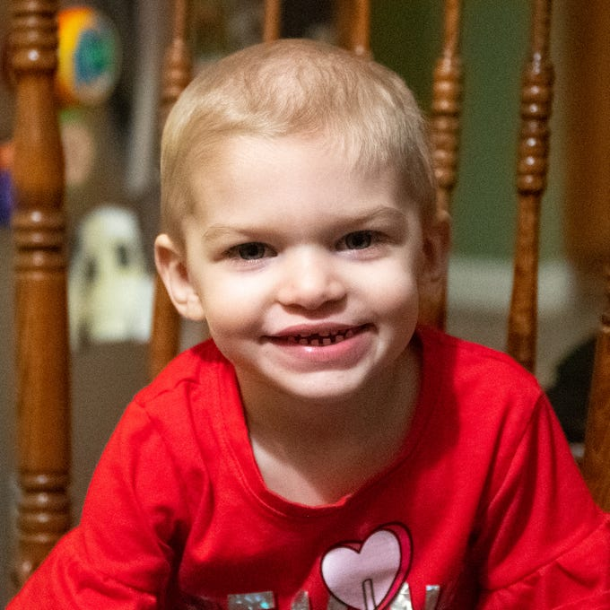 Shiloh Crimmel, 2, is battling Leukemia. She was 'adopted' by the Penn State Lionettes and will participate in this year's THON, which takes place this weekend in State College.