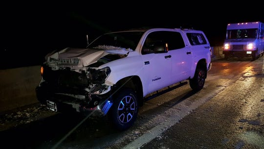 U.S. 395 northbound at the Galena Bridge in Washoe Valley was closed Thursday night after a fatal crash involving 10 to 15 cars.