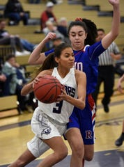 Spanish Spring's Jada Townsell drives to the basket during Tuesday's game at Spanish Springs.