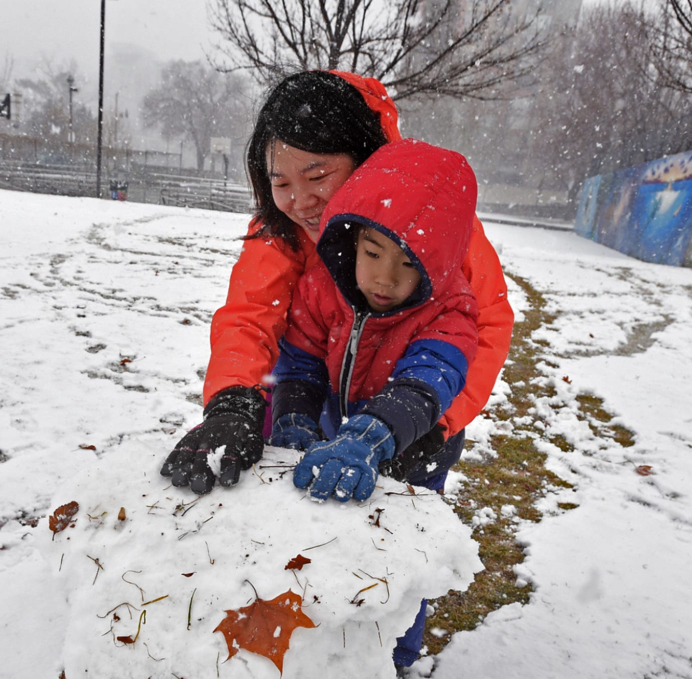 UPDATE: Forecasters say snow showers will continue throughout the day Friday