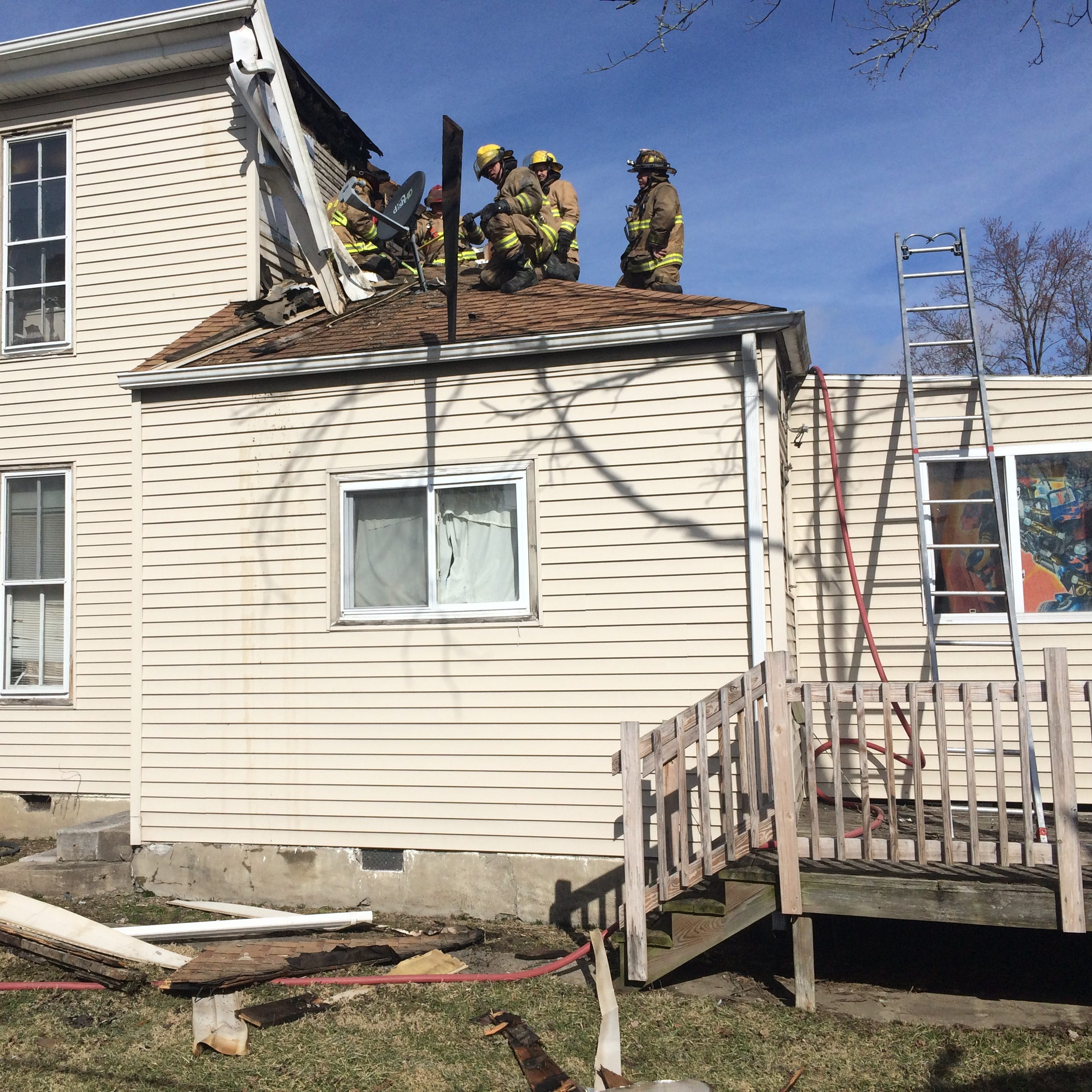 Upstairs apartment damaged by fire that started on back porch