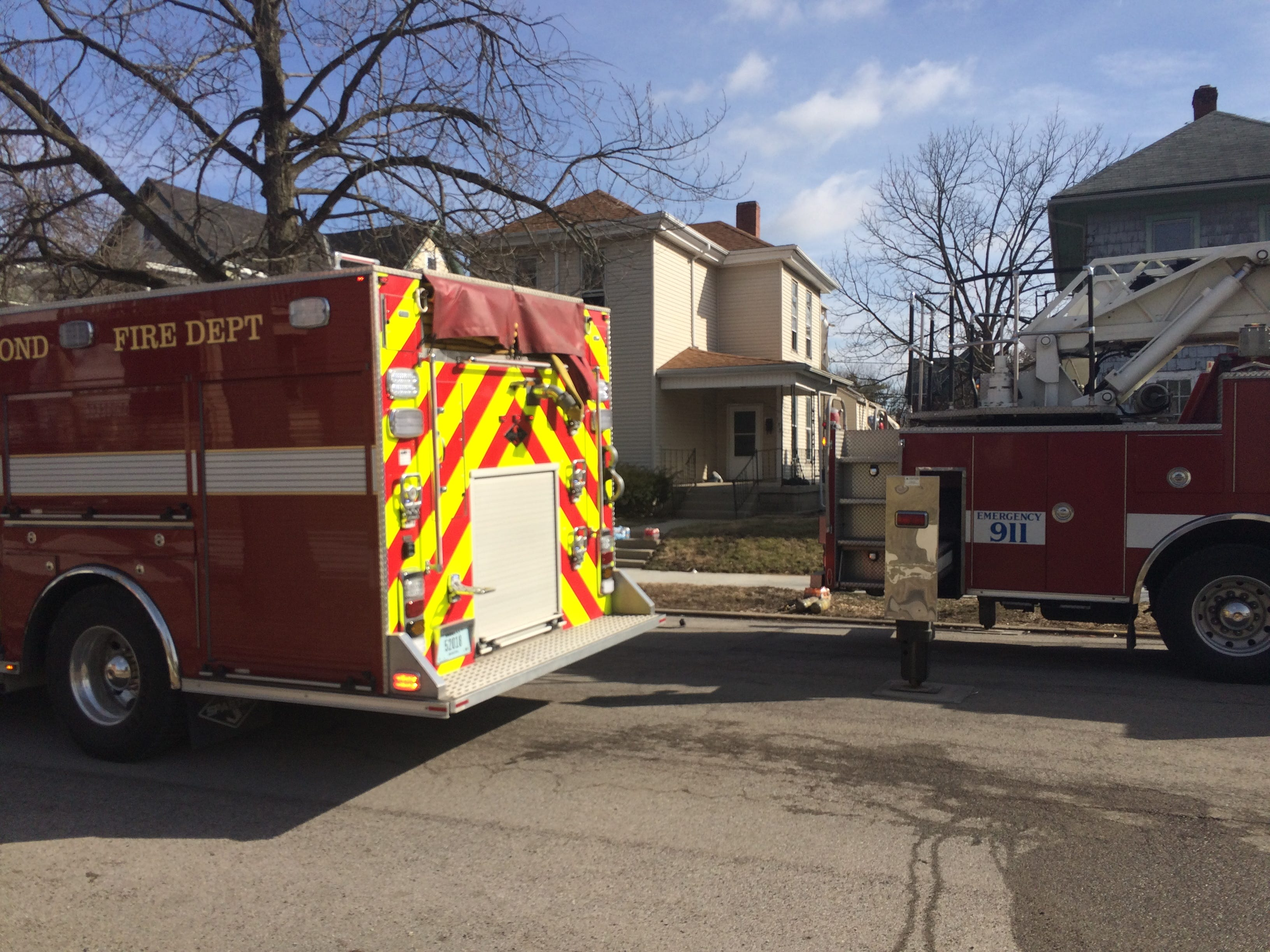 Richmond Fire Department was called to an apartment fire Friday morning on South 12th Street.