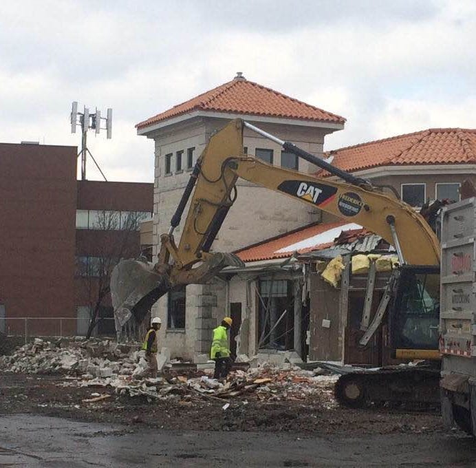 Demolition of Mario's restaurant begins