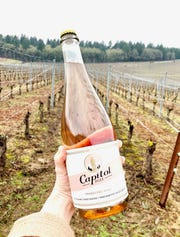 Capitol Fizz is a new sparkling wine from  Illahe Vineyards with a label that features the Oregon Pioneer, aka the Gold Man.