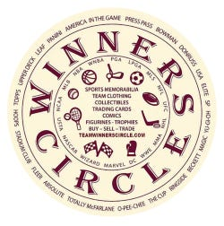The logo for Winner's Circle, a new gaming and memorabilia store opening at 2410 Vanderventer Street on March 15.