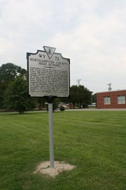 An historical marker has been installed at the former Northampton Middle School, which served as the first and only African American high school in the county during segregation.