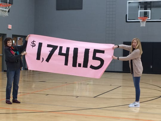 $1,741.15 was raised during the Kiss the Pig fundraiser to help aid Derek Gerlach's medical expenses.