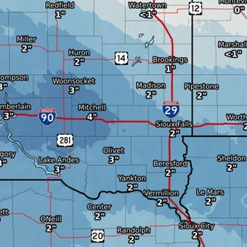 Sioux Falls weather: Another round of snow expected this weekend