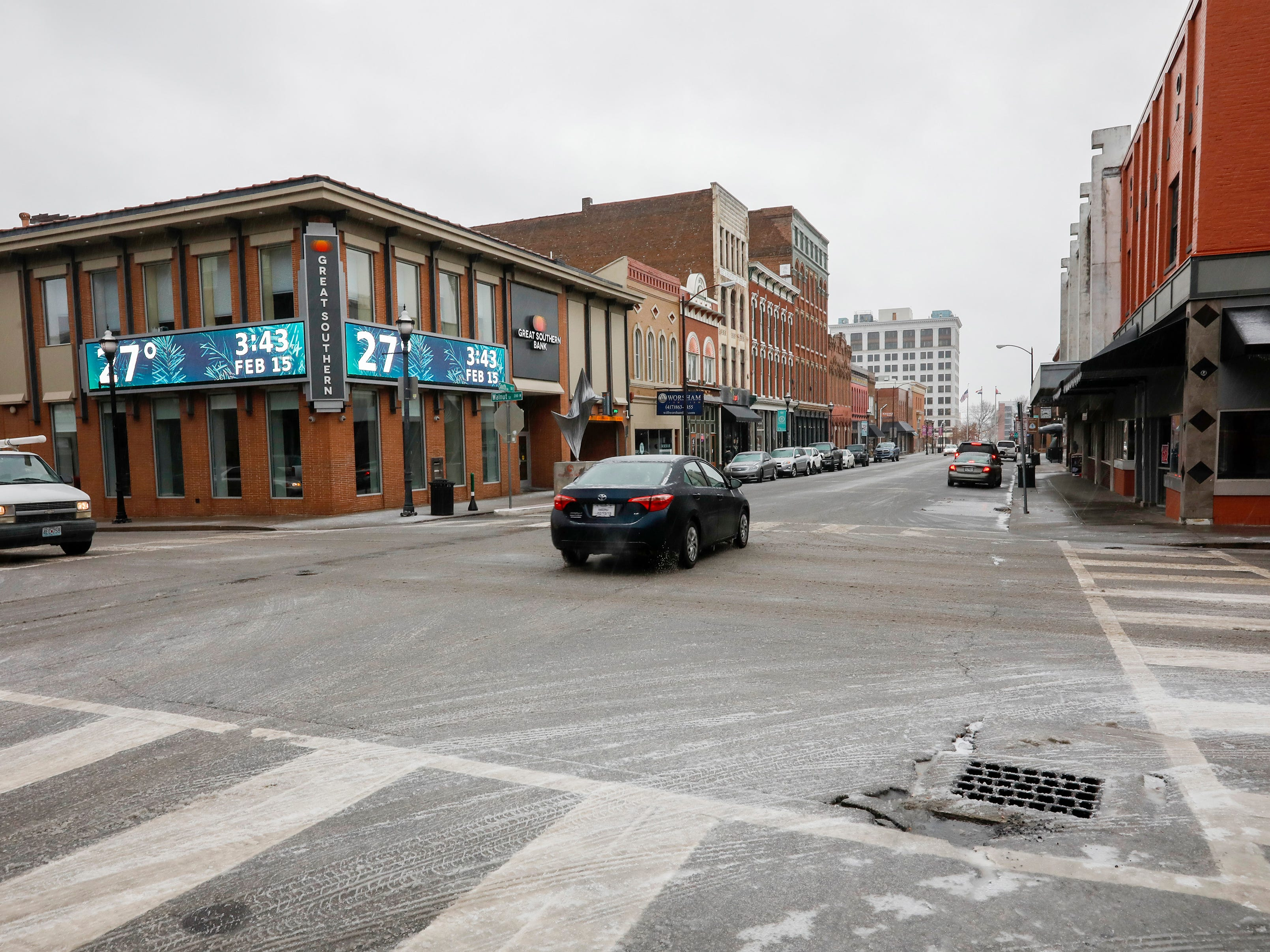 A look north down South Avenue downtown on Friday, Feb. 15, 2019. Temperatures were in the upper 20s on Friday.