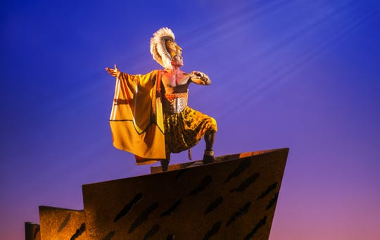"Jared Dixon as Simba in ""The Lion King"" North American Tour."