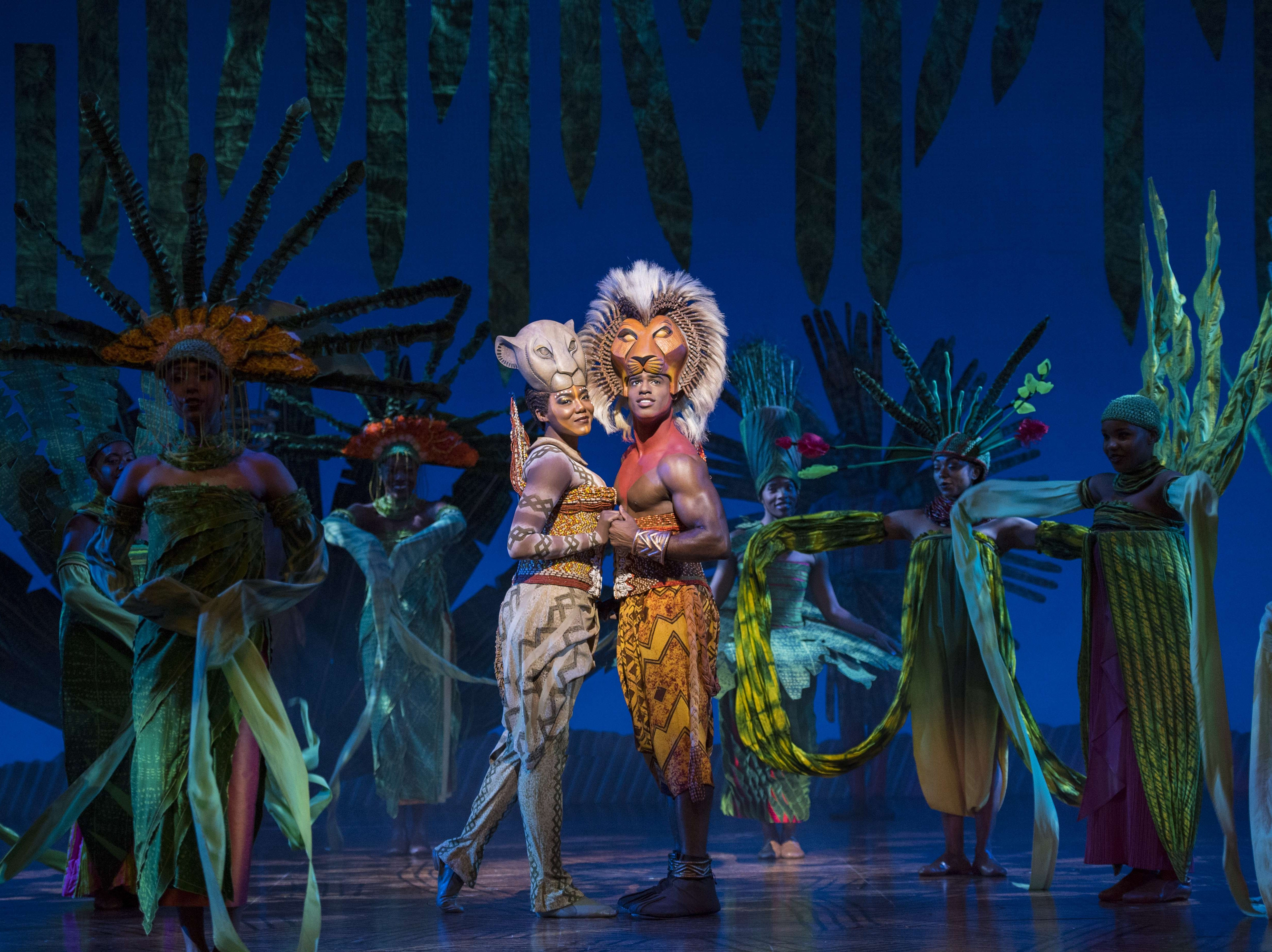 "Nia Holloway as Nala and Jared Dixon as Simba in ""The Lion King"" North American Tour."