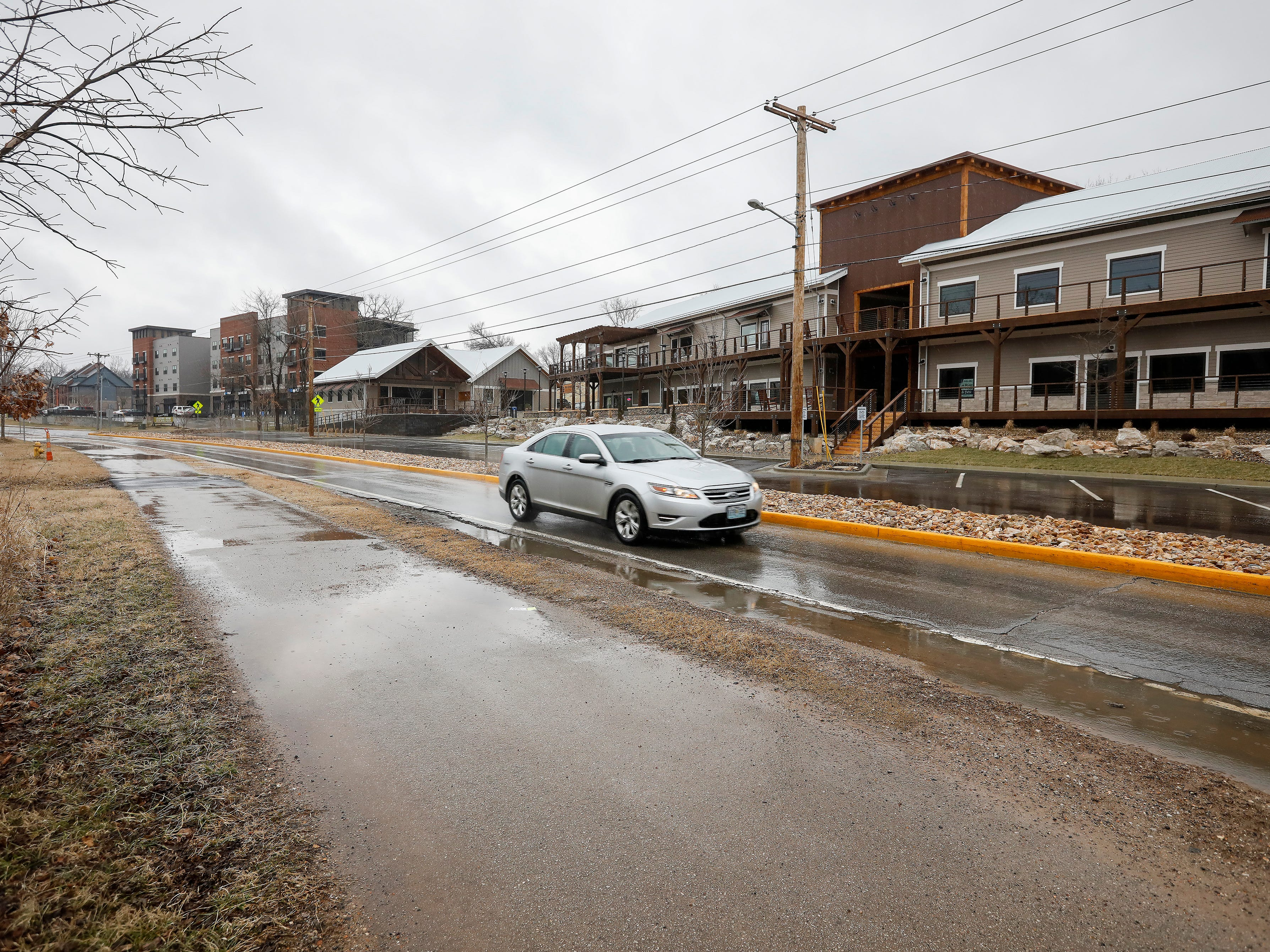There weren't any walkers and joggers use the greenway trail in Galloway as sleet and freezing rain fell on Friday, Feb. 15, 2019. Temperatures were in the upper 20s on Friday.