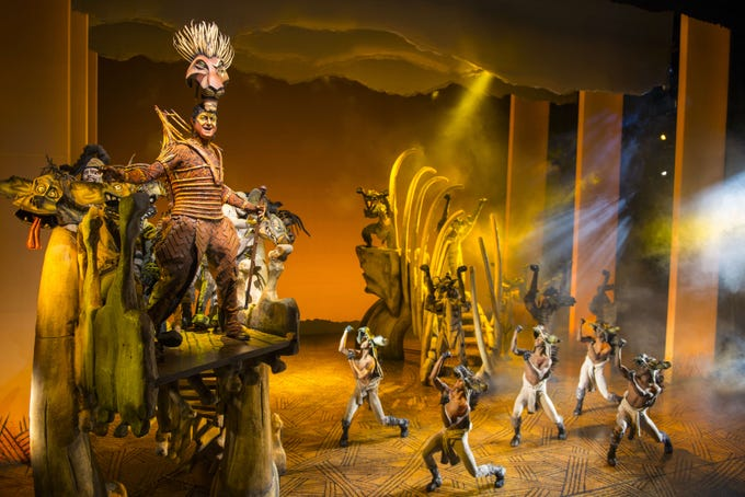 "Spencer Plachy as Scar in ""The Lion King"" North American Tour."